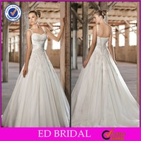 Classic Russian Style A-Line Irish Lace Court Train Alibaba Wedding Dress 2014