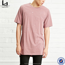 Bangalore branded garments burnout plain long length t shirt