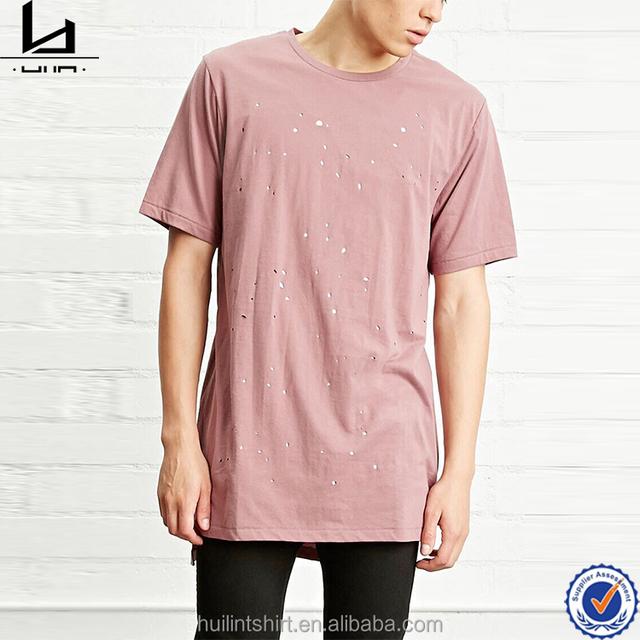 Bangalore branded garments burnout plain long length t shirt