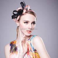 Mini fascinator hats with bow decorate with feather