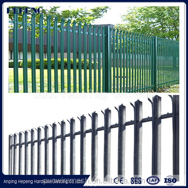 Hebei Steel Anti-climb Security Fence / palisade fence