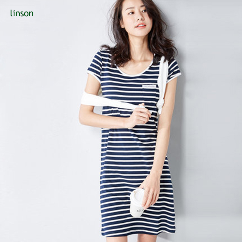 High quality black and white stripe cotton fabric for lady dress