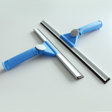 Custom Design Free sample Stainless steel 45cm Swivel hard rubber household cleaning window wiper squeegee