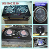 tempered glass top infra red 2 burner gas stove, gas cooker