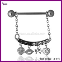 Unique Dangle And Logo Desings Nipple Clip Jewelry