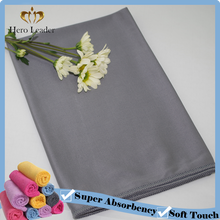 Non scratch microfiber terry cloth for glass