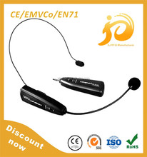2015 factory direct professional 2.4G wireless microphone system for tour guides , teachers , karaoke