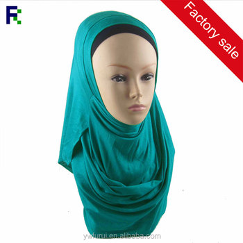 Fashionable Charming New Hot Seller Plain Jersey Hijab New Fashion Muslim Scarf