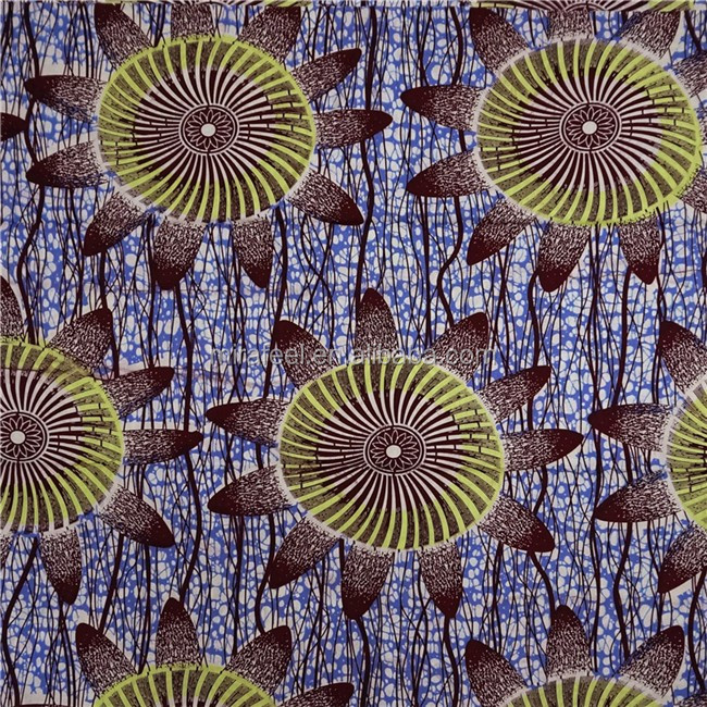 F538 spandex african wax printed cotton fabric