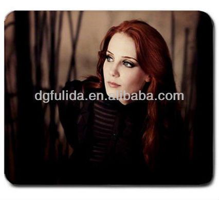 rubber backing photo mouse pad