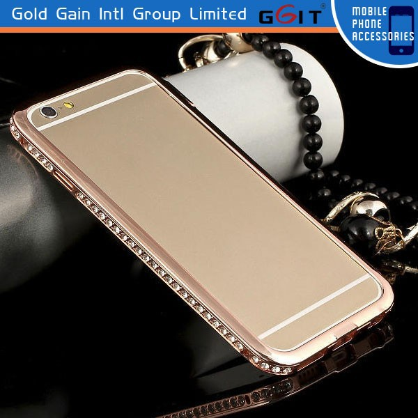 Bling Crystal Diamond Metal Case For iPhone 6, Front Bumper For iPhone 6
