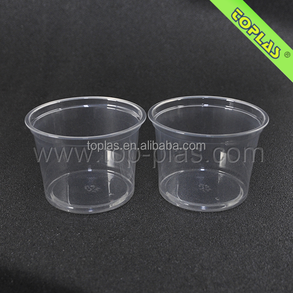 Disposable Plastic Icecream Bowls 500ml PET Plastic Bowls
