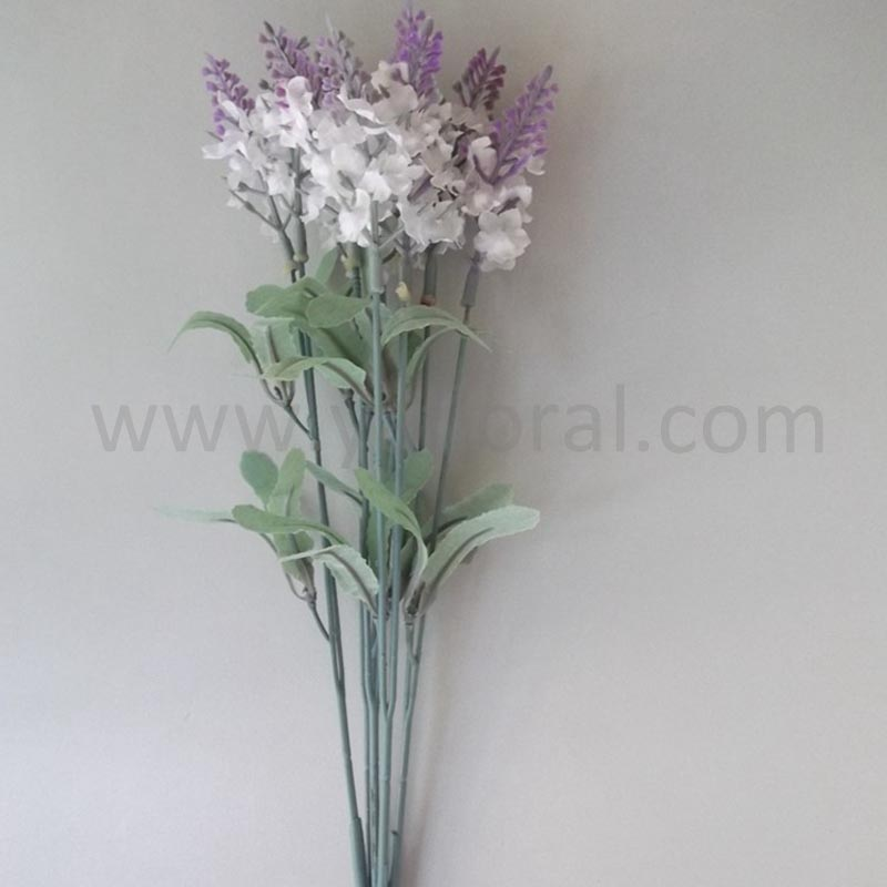 White mini wedding bouquet wholesale artificial flowers lavender flowers