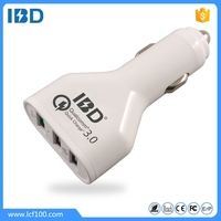 IBD Quick charge 3.0 car charger 3 usb multi car charger 42W for iPhone and samsung