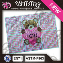 Shining cute love design bling rhinestone crystal diamond case for lpad
