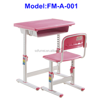 FM-A-001 Adjustable home study desk and chair for children