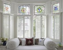 Customized factory wooden plantation shutters with low price