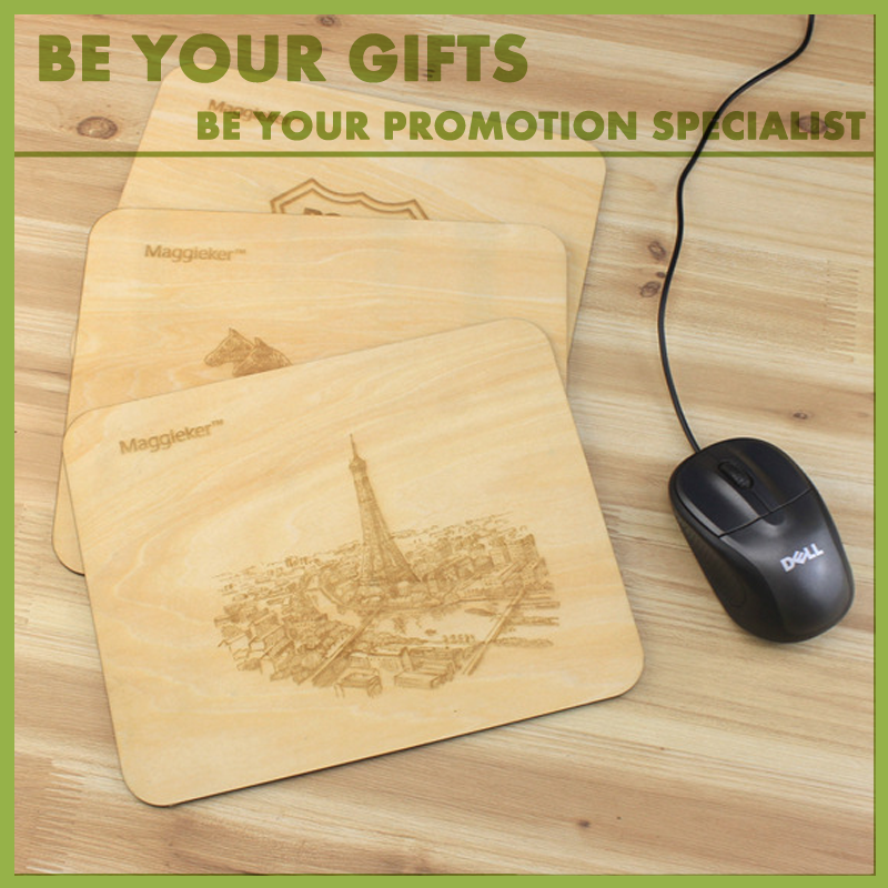 wooden mouse pad