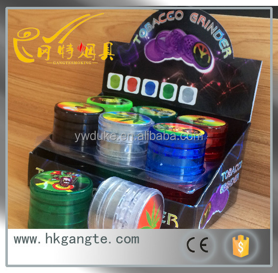 GT5071 acrylic 6CM picture sticker tobacco grinder OEM