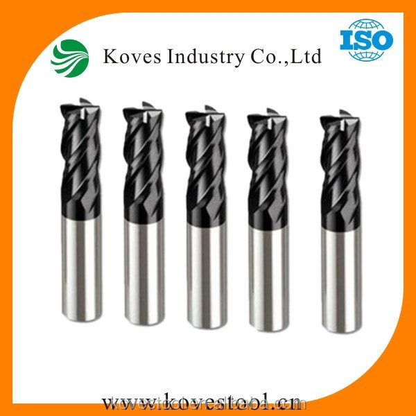 titanium scrap end mils 4-20mm diameters 2T 4T solid carbide end mill square/ ball nose end mill scrap metal cutting tool