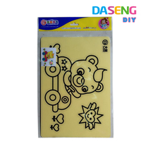 Diy colorful sand art painting drawing picture sets kids learning and educational toys