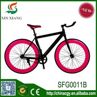 2015 new product single speed bicycle hot sell carbon steel strong fixed gear bike