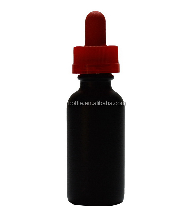 30ml matt frosted black glass dropper bottles with childproof dropper