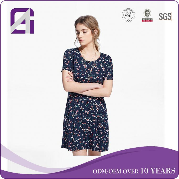 OEM Wholesale Factory short sleeve gambar dress for women