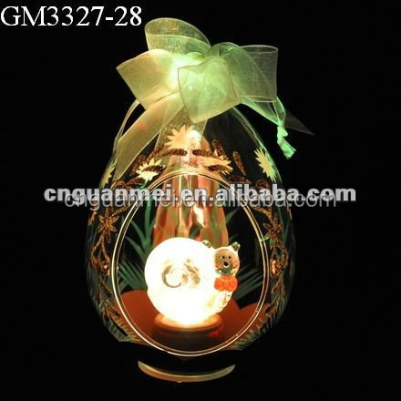 Easter decoration glass egg light snail animal