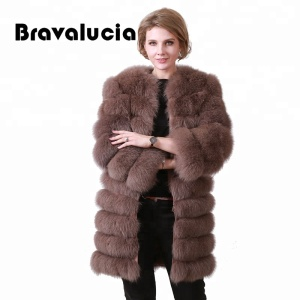 Fashion New Style winter clothing womens fox real fur coat wholesale fur coats