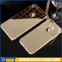 New 2016 free sample phone case for iphone 6 TPU back mirror case cover
