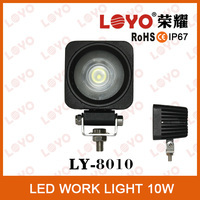 For car/motorcycles/jeep, SUv 10w Mini Size 2 inch Single Diode 10W LED Work Light