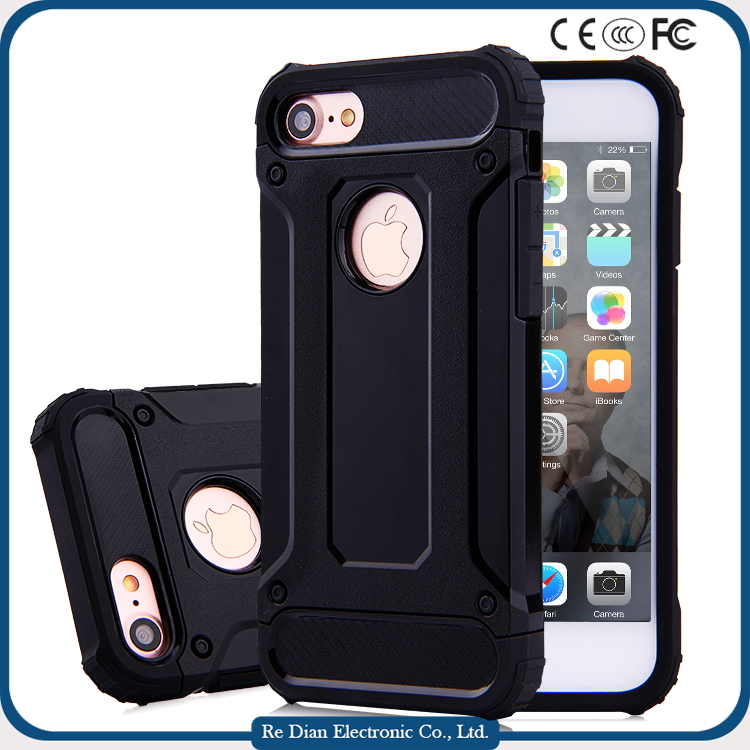 2016 Top Selling Super Armor TPU PC Cell Phone Protective Cover for iphone 7 with case credit card slot