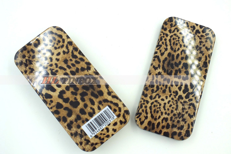 Leopard Print Rectangular Gift Tin Boxes