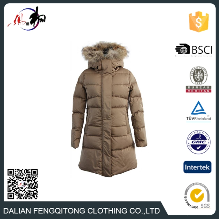 OEM Women Ultralight Down Parka With Fur Collar