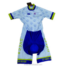 Professional high quality speed cycling skinsuit compression cycling jersey pro team wear powerband custom cycling suit