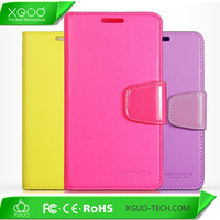 hot sale colorful leather flip case cover for iphone 6