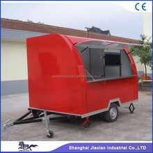 JX-FS290B Jiexian Custom made Design Mobile street bakery food cart trailer for sale