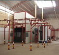 Customized automatic metal powder coating line