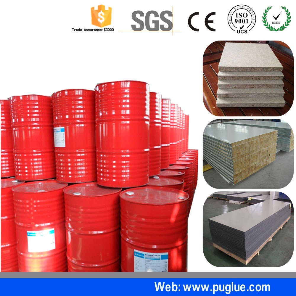 Heat resistant glue metal to metal adhesive for polyurethane panel