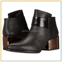 Hot Pointed Toe Bootie With Contrast
