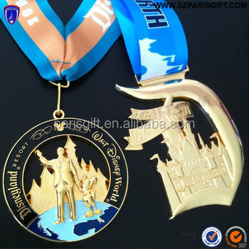 Customized design Race Medal with plating gold color