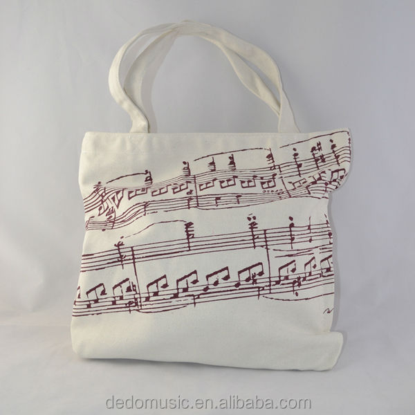 Shenzhen factory music note oilcloth canvas travelling school bag