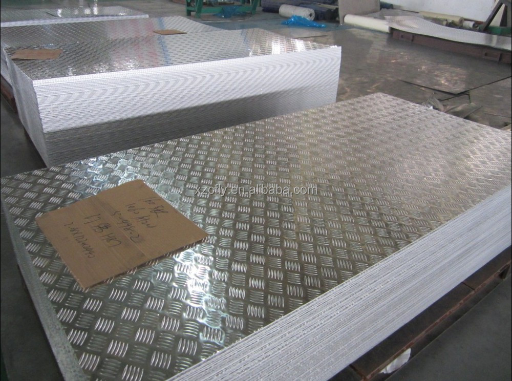 aluminum anti slip checker plate for bus reefer container