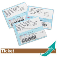 Hong Kong Manufacture Boarding Pass Ticket