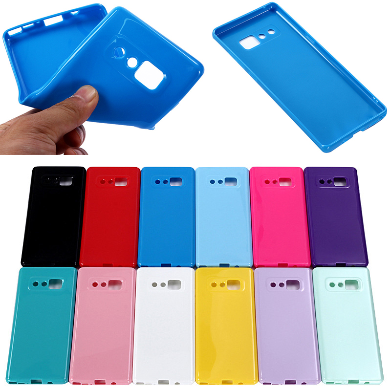 Factory Price True Color TPU Phone Case for Samsung Galaxy Note 8, 12 Colors Available