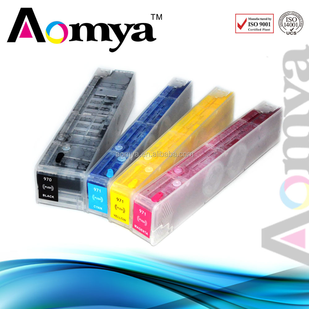 High quality refillable ink cartridge for hp 970 971 empty/with ink