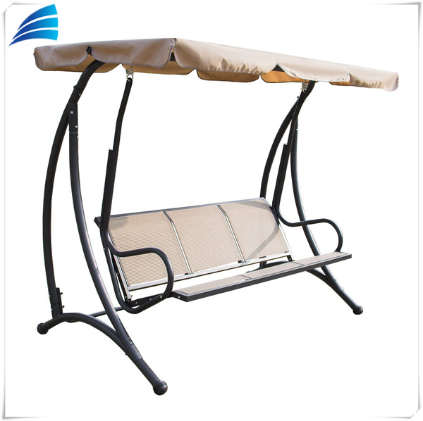 3 Person Canopy Outdoor Garden Patio Swing Chair with Frame