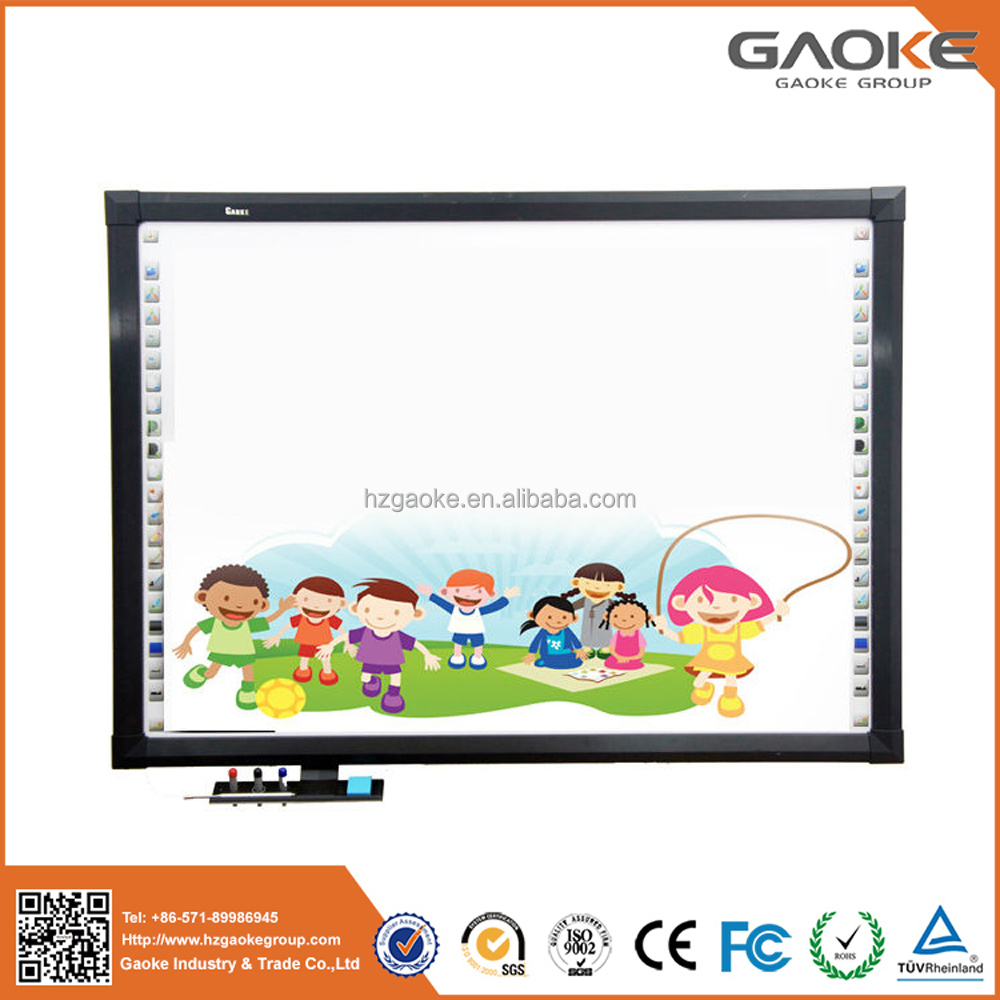 With data high quality polished freestanding magnet board ir no projector interactive whiteboard