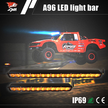 Auto parts 30 inch 180W multi color aurora led off road light bar yellow